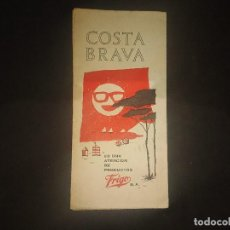 Brochures de tourisme: ANTIGUA GUIA DE COSTA BRAVA OBSEQUIO DE FRIGO S.A , LEER DESCRIPCION. Lote 189454760