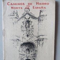 Folletos de turismo: 1929 CAMINOS DE HIERRO DEL NORTE DE ESPAÑA ALREDEDORES DE SAN SEBASTIAN PAIS VASCO FERROCARRILES. Lote 189559665