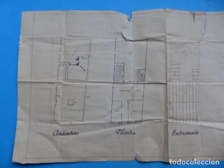 Folletos de turismo: BURJASOT, VALENCIA - PROYECTO DE VIVIENDA - PLANO ESCALA 1:100 - AÑO 1960 - Foto 6 - 189575556