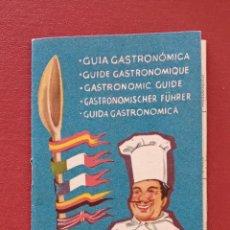 Brochures de tourisme: OBSEQUIO DE VIAJES IBERIA S A. GUIA GASTRONOMICA. PUBLICIDAD CHAPAÑA COSORNIU. OSBORNE. Lote 189946027