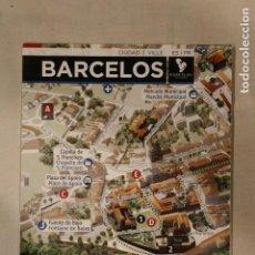 Folletos de turismo: PRECIOSO FOLLETO BARCELOS PORTUGAL MAPA PLANO ITINERARIOS DESPLEGABLE. Lote 190450001