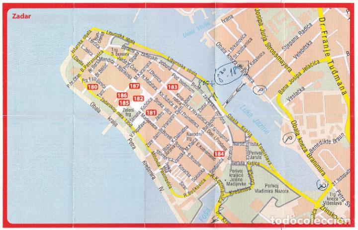 Viajes Mapa Zadar Croacia Buy Old Travel Brochures At