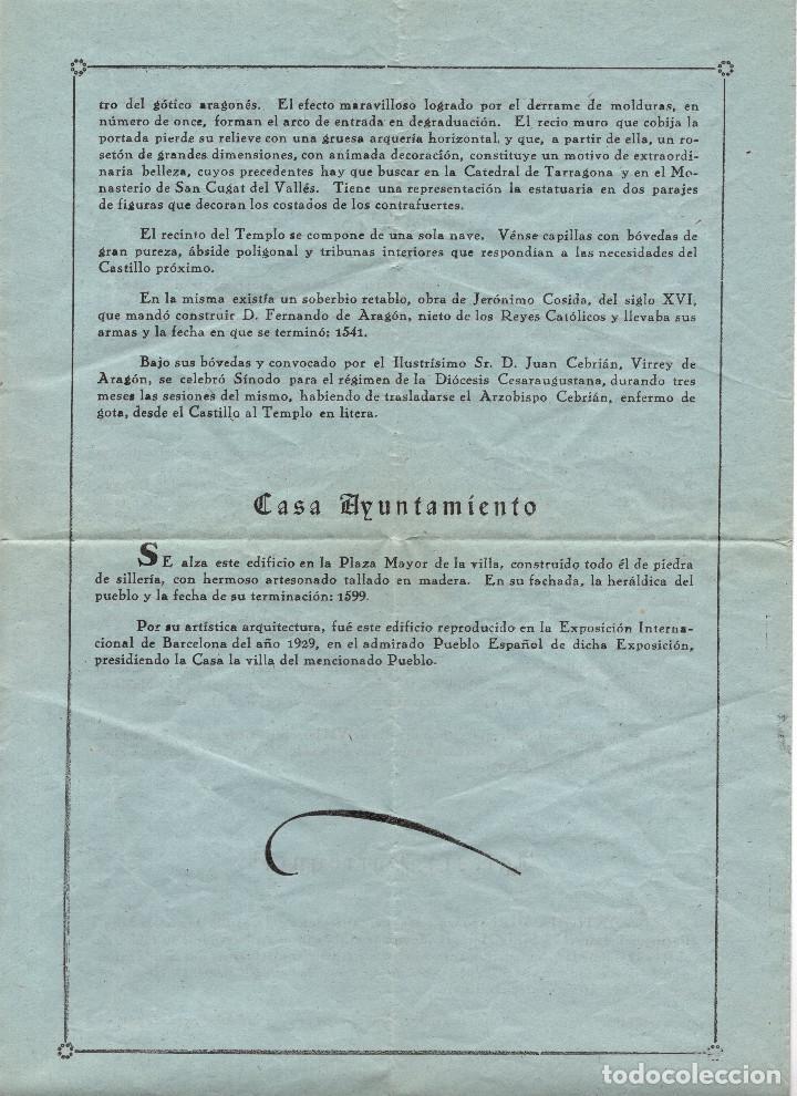 Folletos de turismo: APUNTES HISTÓRICOS SOBRE LA VILLA DE VALDERROBRES. TERUEL. - Foto 4 - 190852158