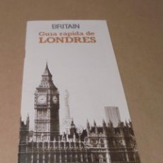 Folletos de turismo: GUÍA LONDRES BRITAIN - 1975. Lote 191659862