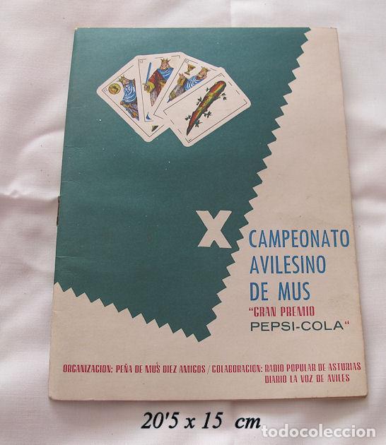 FOLLETO X CAMPEONATO DE MUS AVILES ASTURIAS 1972 (Coleccionismo - Folletos de Turismo)