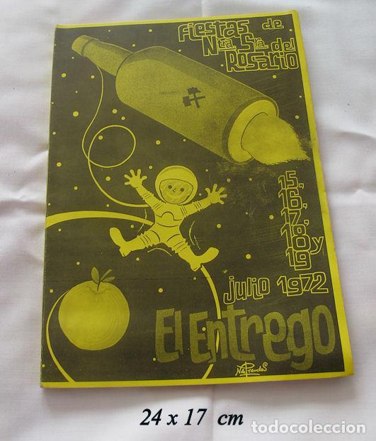 FOLLETO FIESTAS 1972 EL ENTREGO ASTURIAS (Coleccionismo - Folletos de Turismo)