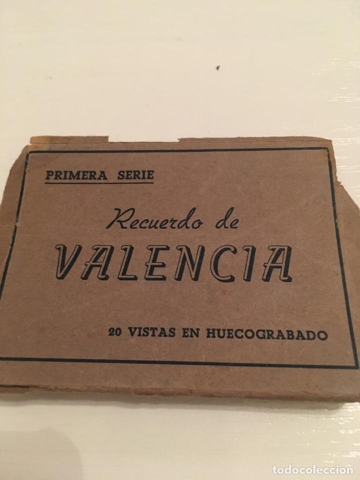 FOTOGRAFÍAS PRIMERA SERIE RECUERDO DE VALENCIA (Coleccionismo - Folletos de Turismo)