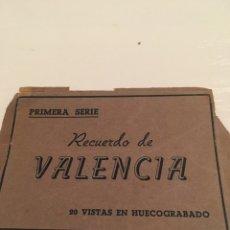 Folletos de turismo: FOTOGRAFÍAS PRIMERA SERIE RECUERDO DE VALENCIA. Lote 191826228