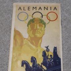 Folletos de turismo: FOLLETO JUEGOS OLÍMPICOS BERLÍN 1936. Lote 192082048