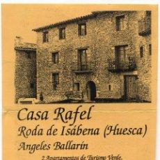 Folletos de turismo: CASA RAFEL RODA DE ISÁBENA (HUESCA). Lote 192093216