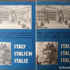 Folletos de turismo: ITALY ITALIEN ITALIE: FOLLETOS TURÍSTICOS/TOURIST BROCHURES MONUMENTS ENIT 1965. Lote 192139312