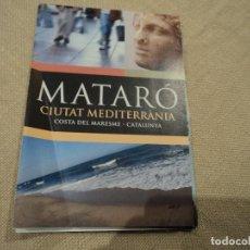 Folletos de turismo: PLANO DE MATARO. Lote 192168662