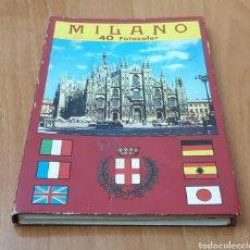 Folletos de turismo: ALBUM VINTAGE MILANO 40 FOTOCOLOR SOUVENIR. Lote 192833433