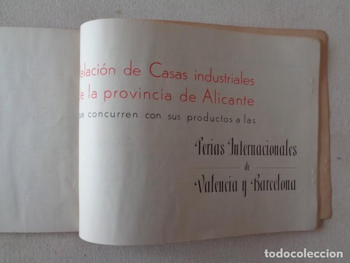 Folletos de turismo: ALICANTE.MERCANTIL E INDUSTRIAL EN LAS FERIAS DE VALENCIA Y BARCELONA DE 1944 .-857 - Foto 2 - 193276288