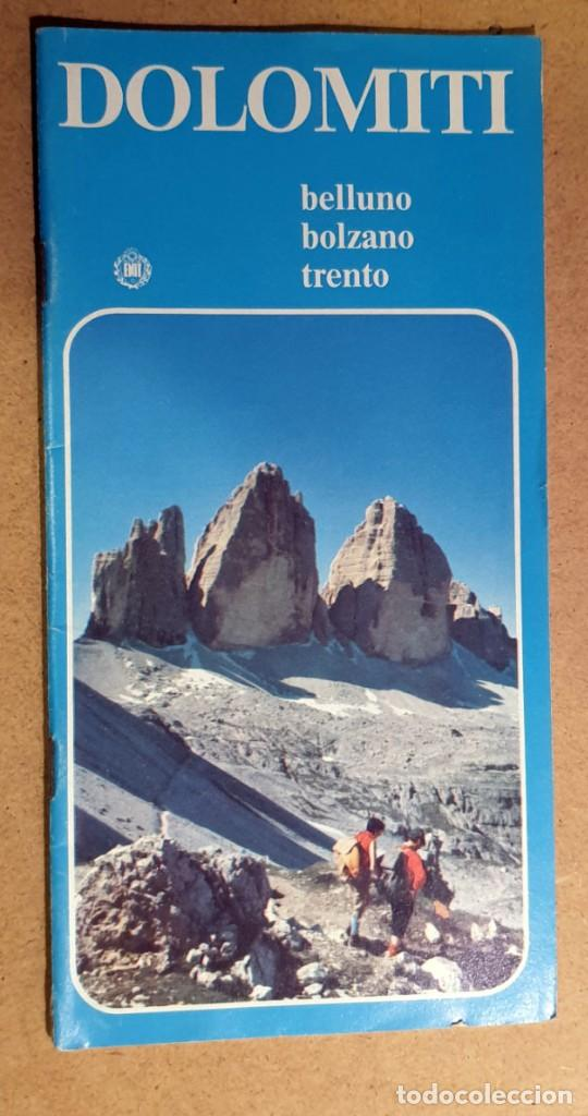 DOLOMITI - (DOCUMENTO ANTIGUO) (Coleccionismo - Folletos de Turismo)