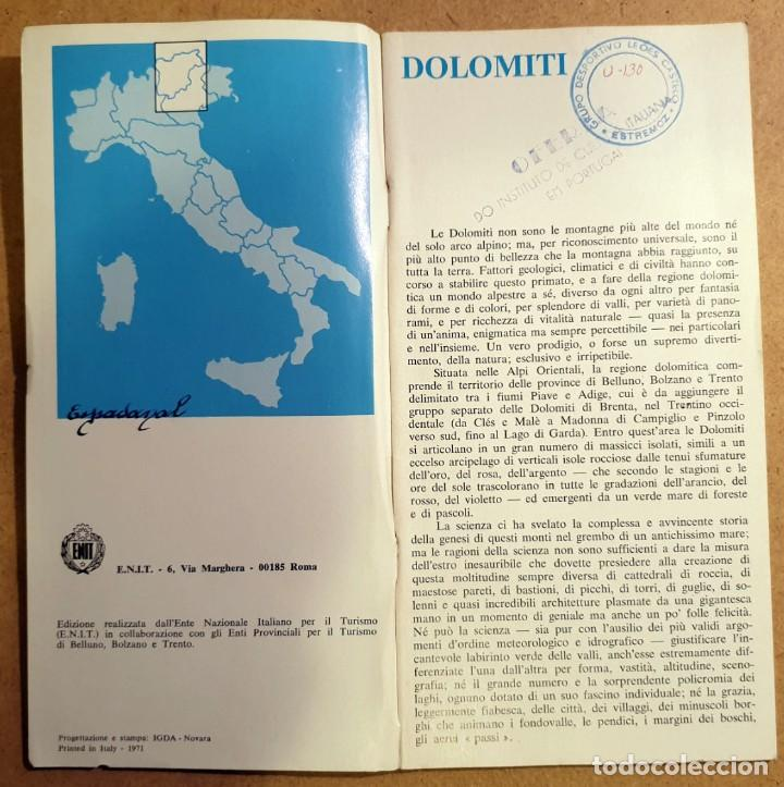 Folletos de turismo: DOLOMITI - (DOCUMENTO ANTIGUO) - Foto 3 - 194011856
