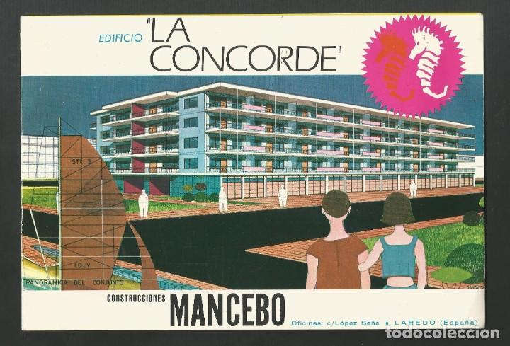 FOLLETO CATALOGO EDIFICIO LA CONCORDE CONSTRUCCIONES MANCEBO - LAREDO - SANTANDER (Coleccionismo - Folletos de Turismo)
