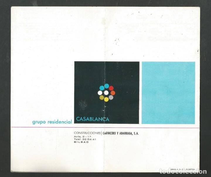 Folletos de turismo: FOLLETO CATALOGO GRUPO RESIDENCIAL CASABLANCA - LAREDO - SANTANDER AÑO 1964 CONSTRUCCIONES CARNICERO - Foto 2 - 194200972