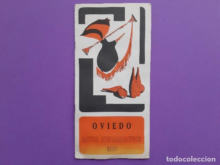 ANTIGUO TRIPITICO CIUDAD OVIEDO 1968 DATOS INFORMATIVOS PLANO DESPLEGABLE (Coleccionismo - Folletos de Turismo)