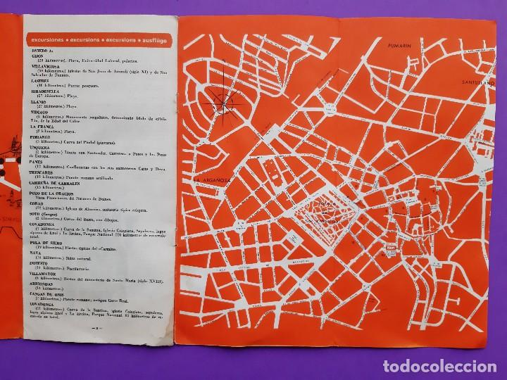 Folletos de turismo: ANTIGUO TRIPITICO CIUDAD OVIEDO 1968 DATOS INFORMATIVOS PLANO DESPLEGABLE - Foto 3 - 194206705