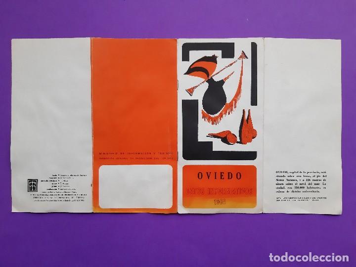 Folletos de turismo: ANTIGUO TRIPITICO CIUDAD OVIEDO 1968 DATOS INFORMATIVOS PLANO DESPLEGABLE - Foto 6 - 194206705