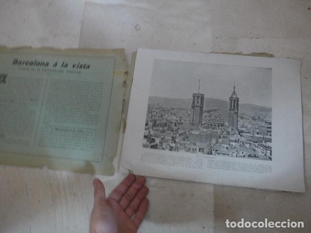 Folletos de turismo: * Antiguo album de fotos de principios siglo XX, barcelona a la vista, original. ZX - Foto 2 - 194240121