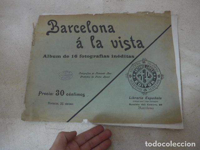 * ANTIGUO ALBUM DE FOTOS DE PRINCIPIOS SIGLO XX, BARCELONA A LA VISTA, ORIGINAL. ZX (Coleccionismo - Folletos de Turismo)