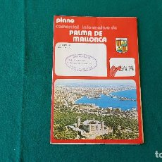 Folletos de turismo: FOLLETO DE TURISMO DE PALMA DE MALLORCA (1960-70) PLANO COMERCIAL. Lote 194334568