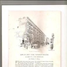 Folletos de turismo: 1151. VIVIENDA OBRERA EN NEW YORK EN EL SIGLO XIX (TENEMENT HOUSES). Lote 194337722