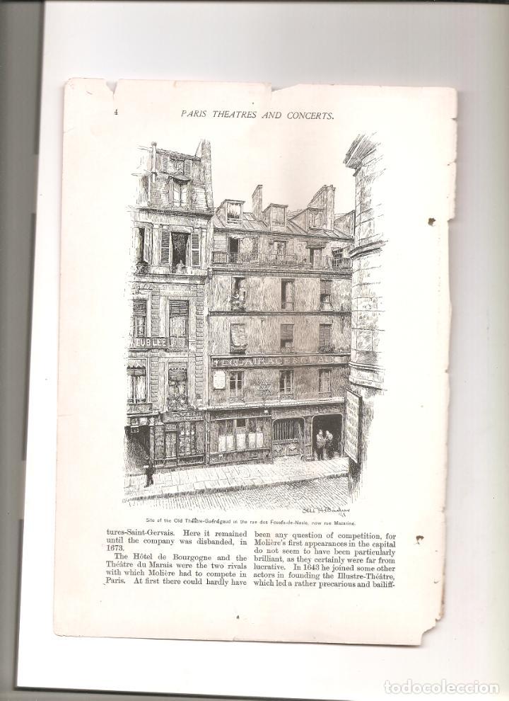 1155. PARIS TEATROS Y CONCIERTOS (Coleccionismo - Folletos de Turismo)