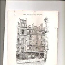 Folletos de turismo: 1155. PARIS TEATROS Y CONCIERTOS. Lote 194339355