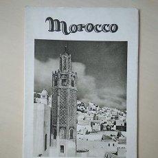 Folletos de turismo: MOROCCO · FOLLETO-MAPA MARRUECOS ESPAÑOL. FOTOS LUIS LLADÓ (BARCELONA 1874 – MÉXICO 1946). Lote 194341528