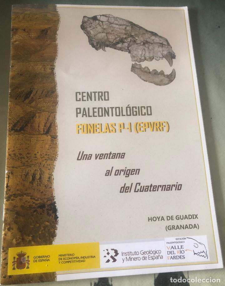 FOLLETO DE VISITA TURÍSTICA A CENTRO PALEONTOLÓGICO FONELAS P-1. GUADIX, GRANADA, ANDALUCÍA. 28 PP. (Coleccionismo - Folletos de Turismo)