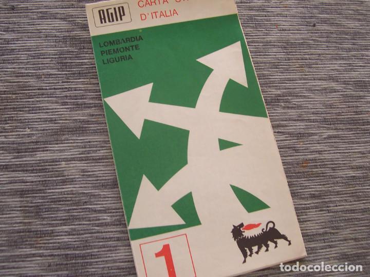 Folletos de turismo: Mapa de carreteras de Italia año 1965. Carta de stradale AGIP. Desplegables turismo - Foto 2 - 194354835