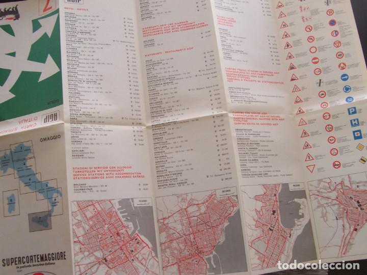 Folletos de turismo: Mapa de carreteras de Italia año 1965. Carta de stradale AGIP. Desplegables turismo - Foto 4 - 194354835