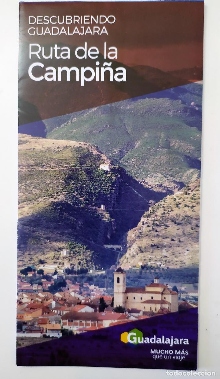 DESCUBRIENDO GUADALAJARA - RUTA DE LA CAMPIÑA (Coleccionismo - Folletos de Turismo)
