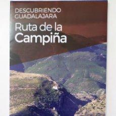 Folletos de turismo: DESCUBRIENDO GUADALAJARA - RUTA DE LA CAMPIÑA. Lote 194372495