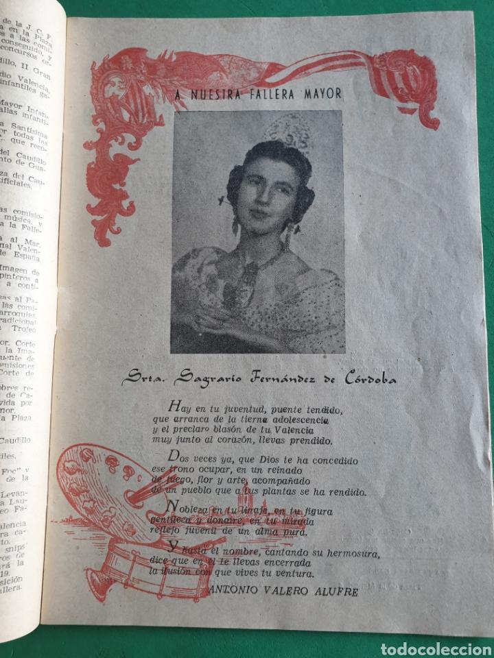 Folletos de turismo: El fallero mayor. Folleto marzo 1957. Valencia - Foto 5 - 194489028