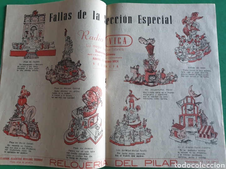 Folletos de turismo: El fallero mayor. Folleto marzo 1957. Valencia - Foto 9 - 194489028