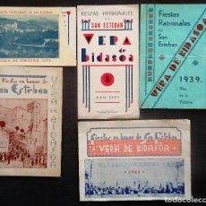 Folletos de turismo: NAVARRA.VERA DE BIDASOA. 23 PROGRAMAS DE FIESTAS DE SAN ESTEBAN DE VERA DE BIDASOA. Lote 194492325