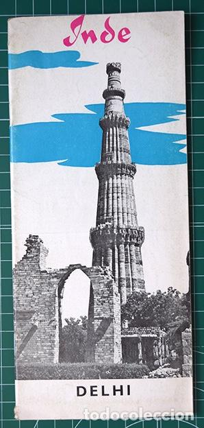 Folletos de turismo: Inde · Delhi, 1960. Folleto en francés, 23 x 10 cm. 32 páginas + mapa - Foto 1 - 194533520