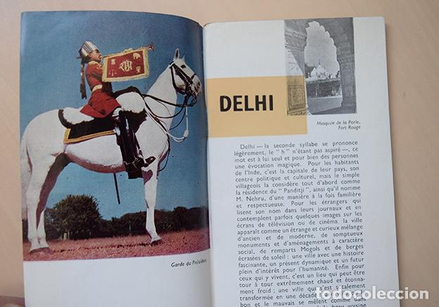 Folletos de turismo: Inde · Delhi, 1960. Folleto en francés, 23 x 10 cm. 32 páginas + mapa - Foto 2 - 194533520