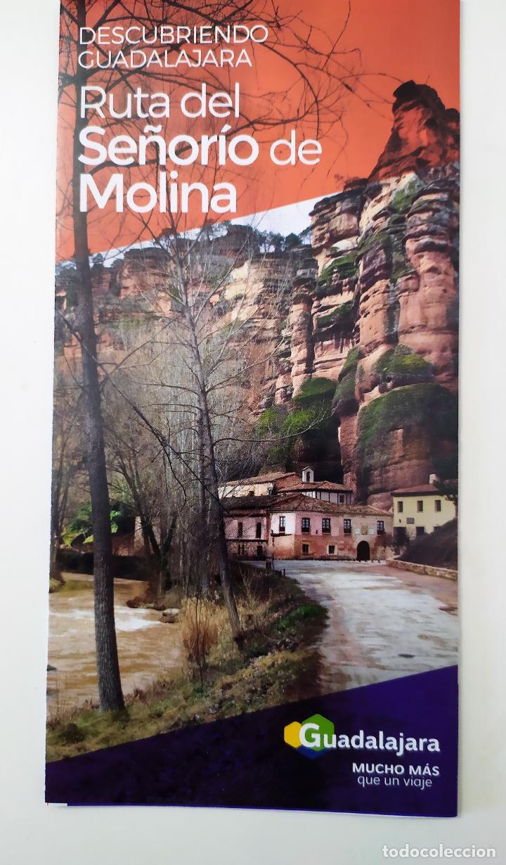 DESCUBRIENDO GUADALAJARA - RUTA DEL SEÑORIO DE MOLINA (Coleccionismo - Folletos de Turismo)