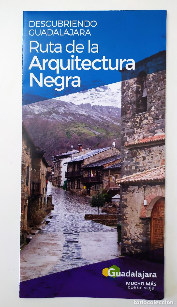 DESCUBRIENDO GUADALAJARA - RUTA DE LA ARQUITECTURA NEGRA (Coleccionismo - Folletos de Turismo)