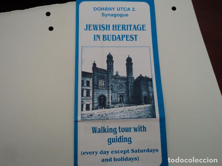 TRIPTICO INFORMATIVO SINAGOGA JUDIA EN BUDAPEST (Coleccionismo - Folletos de Turismo)