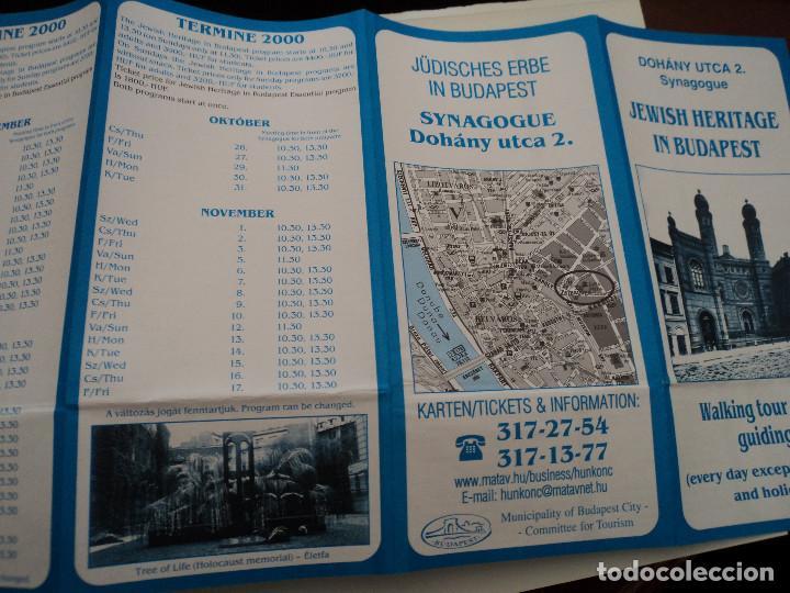Folletos de turismo: triptico informativo sinagoga judia en budapest - Foto 2 - 194571530