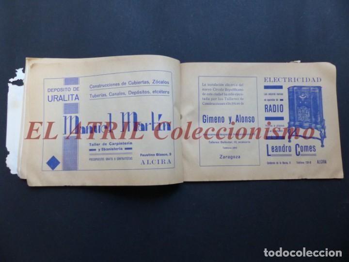 Folletos de turismo: ALCIRA, VALENCIA - RARO PROGRAMA DE FERIA Y FIESTAS CHORIOL - AÑO 1932 - Foto 19 - 194605681
