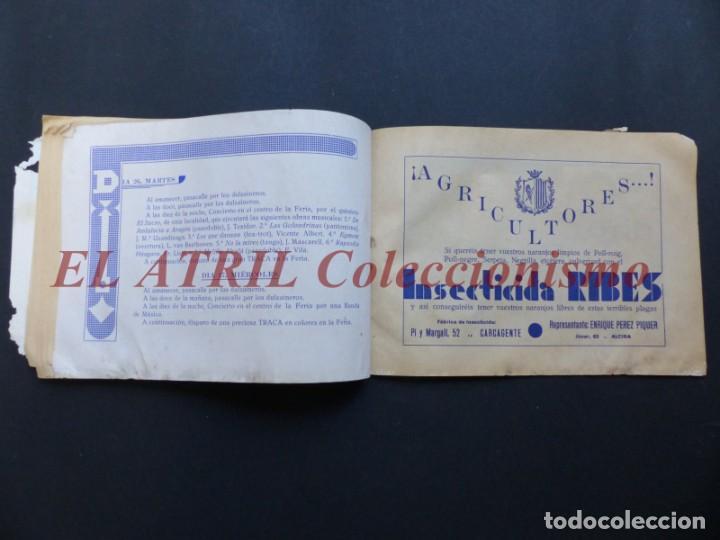 Folletos de turismo: ALCIRA, VALENCIA - RARO PROGRAMA DE FERIA Y FIESTAS CHORIOL - AÑO 1932 - Foto 23 - 194605681