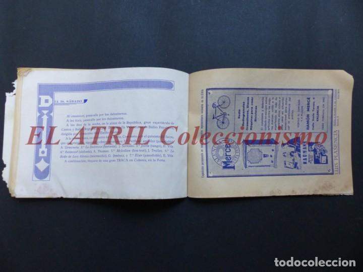 Folletos de turismo: ALCIRA, VALENCIA - RARO PROGRAMA DE FERIA Y FIESTAS CHORIOL - AÑO 1932 - Foto 27 - 194605681