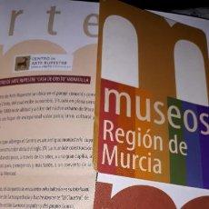 Folletos de turismo: MUSEOS REGIÓN MURCIA ARQUELOGÍA MÚSICA ARTES CIGARRALEJO MULA CATEDRAL SALZILLO MULA BARRANDA SAN JU. Lote 194620985